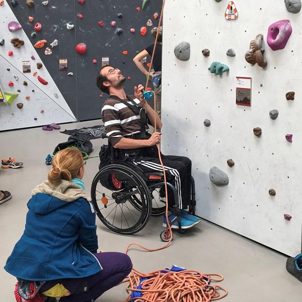Klettern mit Handicap
